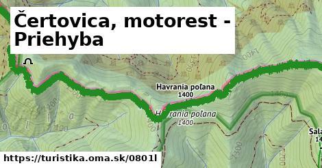 ilustračný obrázok k Čertovica, motorest - Priehyba