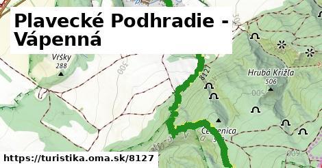 ilustračný obrázok k Plavecké Podhradie - Vápenná