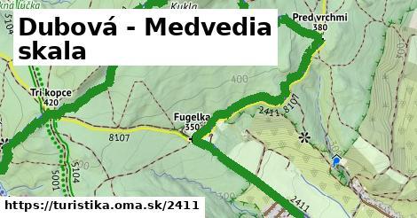 ilustračný obrázok k Dubová - Medvedia skala