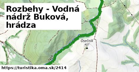 ilustračný obrázok k Rozbehy - Vodná nádrž Buková, hrádza
