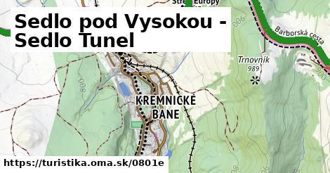 ilustračný obrázok k Sedlo pod Vysokou - Sedlo Tunel