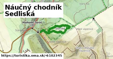 ilustračný obrázok k Náučný chodník Sedliská