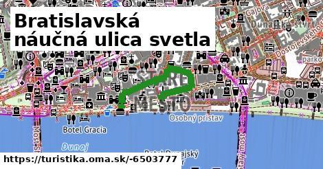 ilustračný obrázok k Bratislavská náučná ulica svetla