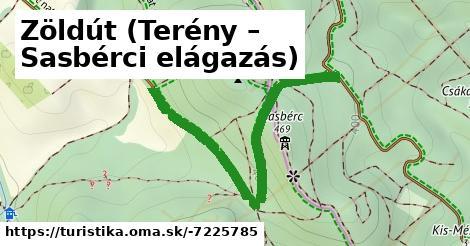 Zöldút (Terény – Sasbérci elágazás)