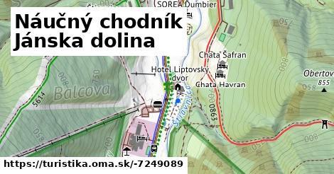 ilustračný obrázok k Náučný chodník Jánska dolina
