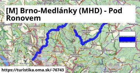 [M] Brno-Medlánky (MHD) - Pod Ronovem