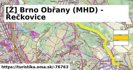 [Ž] Brno Obřany (MHD) - Řečkovice