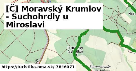 [Č] Moravský Krumlov - Suchohrdly u Miroslavi