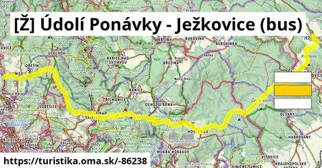 [Ž] Údolí Ponávky - Ježkovice (bus)