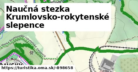 Naučná stezka Krumlovsko-rokytenské slepence