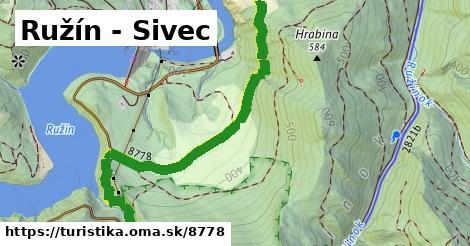 ilustračný obrázok k Ružín - Sivec