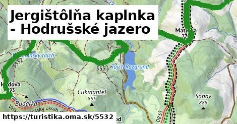 ilustračný obrázok k Jergištôlňa kaplnka - Hodrušské jazero