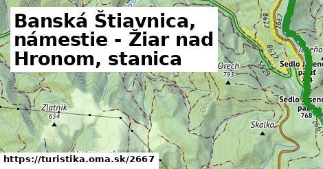 ilustračný obrázok k Banská Štiavnica, námestie - Žiar nad Hronom, stanica