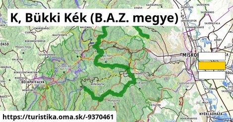 K, Bükki Kék (B.A.Z. megye)