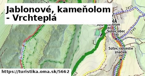 ilustračný obrázok k Jablonové, kameňolom - Vrchteplá
