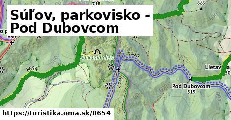 ilustračný obrázok k Súľov, parkovisko - Pod Dubovcom