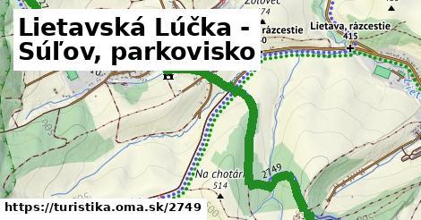 ilustračný obrázok k Lietavská Lúčka - Súľov, parkovisko