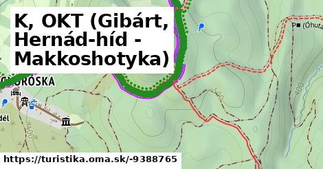 K, OKT (Gibárt, Hernád-híd - Makkoshotyka)