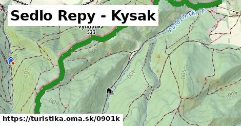 ilustračný obrázok k Sedlo Repy - Kysak