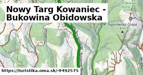 Nowy Targ Kowaniec - Bukowina Obidowska