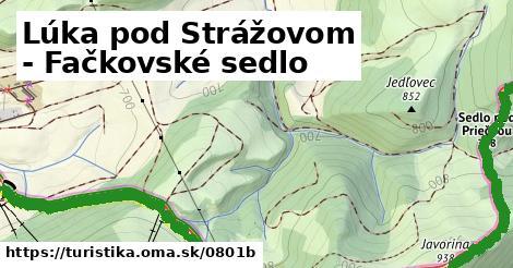 ilustračný obrázok k Lúka pod Strážovom - Fačkovské sedlo