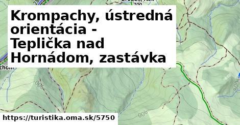 ilustračný obrázok k Krompachy, ústredná orientácia - Teplička nad Hornádom, zastávka