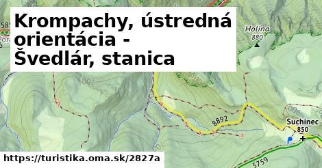 ilustračný obrázok k Krompachy, ústredná orientácia - Švedlár, stanica