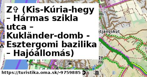 Z✞ (Kis-Kúria-hegy – Hármas szikla utca – Kukländer-domb - Esztergomi bazilika – Hajóállomás)
