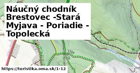 Náučný chodník Brestovec -Stará Myjava - Poriadie - Topolecká