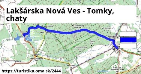 Lakšárska Nová Ves - Tomky, chaty