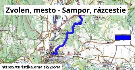 Zvolen, mesto - Sampor, rázcestie