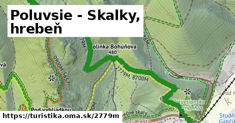 Poluvsie - Skalky, hrebeň