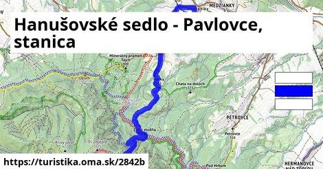 Hanušovské sedlo - Pavlovce, stanica