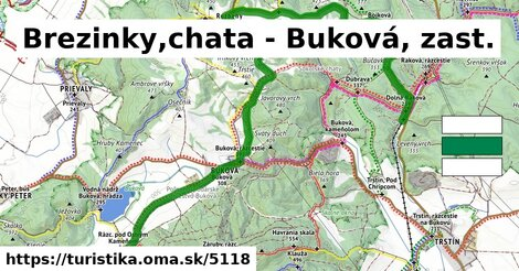 Brezinky,chata - Buková, zast.