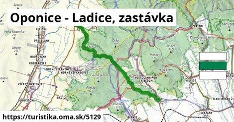 Oponice - Ladice, zastávka