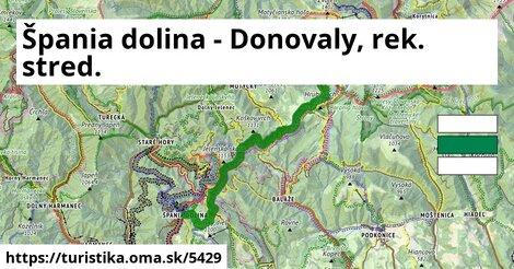 Špania dolina - Donovaly, rek. stred.