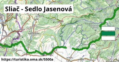 Sliač - Sedlo Jasenová