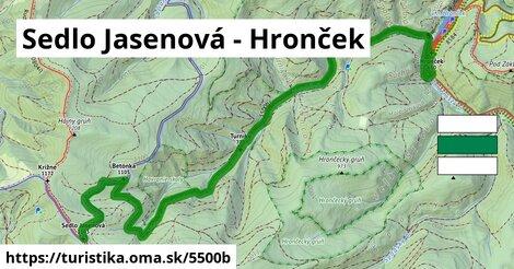 Sedlo Jasenová - Hronček