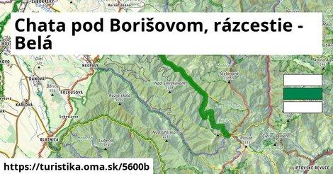 Chata pod Borišovom, rázcestie - Belá