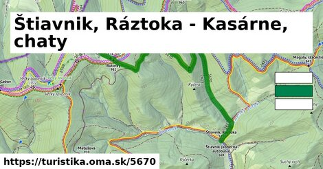 Štiavnik, Ráztoka - Kasárne, chaty