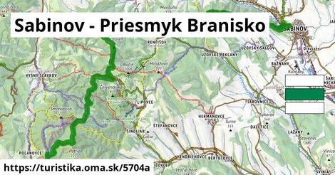 Sabinov - Priesmyk Branisko