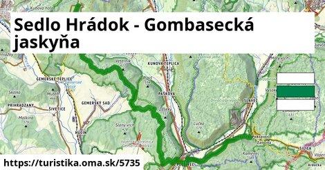 Sedlo Hrádok - Gombasecká jaskyňa