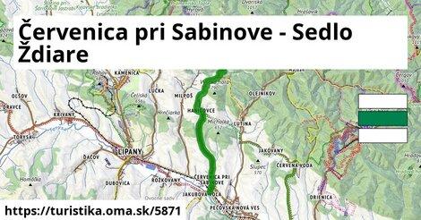 Červenica pri Sabinove - Sedlo Ždiare