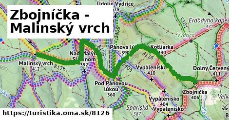 Zbojníčka - Malinský vrch