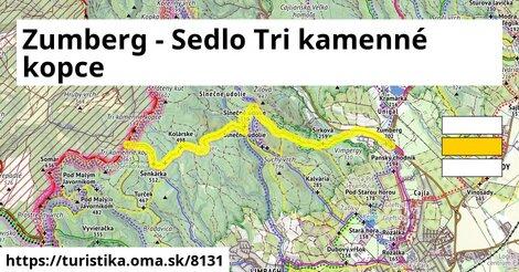 Zumberg - Sedlo Tri kamenné kopce