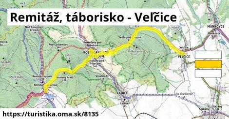 Remitáž, táborisko - Veľčice