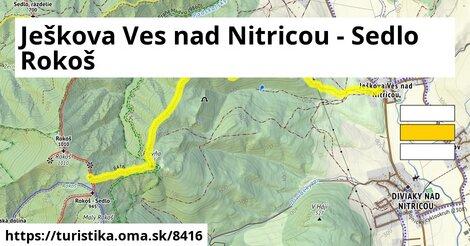 Ješkova Ves nad Nitricou - Sedlo Rokoš