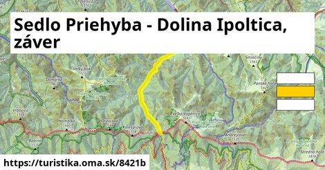 Sedlo Priehyba - Dolina Ipoltica, záver