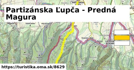 Partizánska Ľupča - Predná Magura