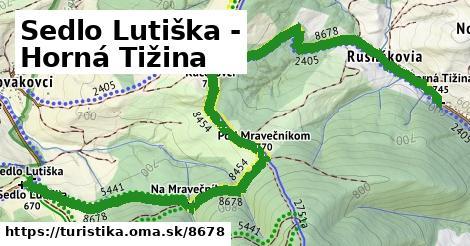 Sedlo Lutiška - Horná Tižina